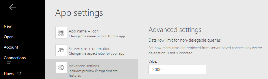 Powerapps Excel Data Not Showing